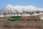 BNSF 7142 with Mt. Timpanogos